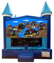 Blaze and Monster Truck Inflatable Rental