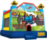Trains and Planes Bounce House Event Rental