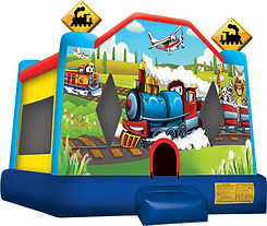 Trains and Planes Bounce House Corporate Carnival Event Rentals