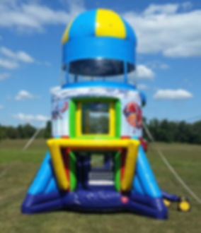 Airborne Adventure Inflatable Parachute Ride or Rocket Ship Ride