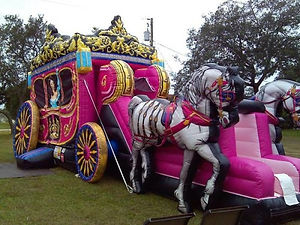 Princess Carriage Inflatable Rental