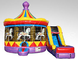 Corporate Carnival Event Carousel Inflatable Bouncer Rentals