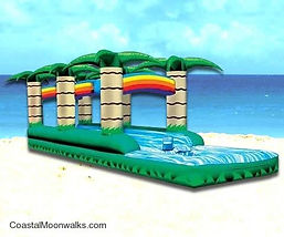 Tropical Slip n Slide Inflatable Corporate Carnival Event Rentals