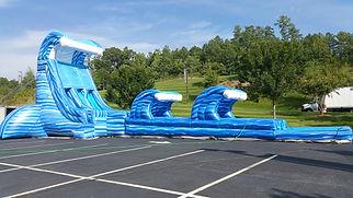 28' Blue Lightning Water Slide