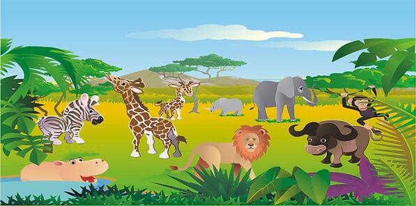 Jungle Safari like Lion King Bouncers