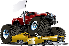 Monster Trucks, Transformers, and Blaze bouncer rentals