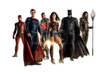 Justice League Inflatables with Batman, Superman, Wonder Woman, Flash