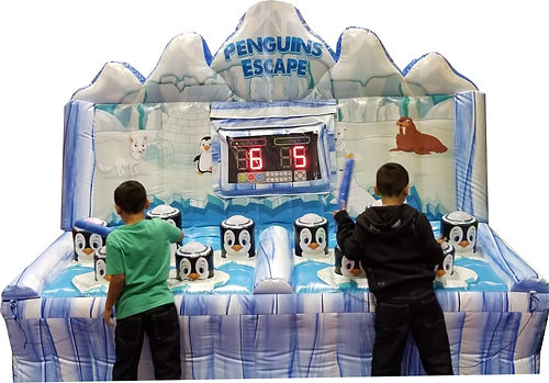 Whack a Penguin Inflatable Light Game as in Penquins Escape Game