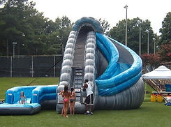 Corporate event planner with great corporate event ideas like water slide rentals in and near local Alpharetta