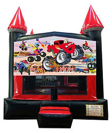 Monster Truck and Blaze Inflatable Rentals