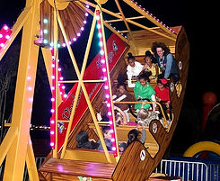 Corporate event planner with great corporate event ideas like renting a pirate's revenge carnival ride in local Alpharetta