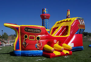 Pirate Ship Corporate Carnival Event Inflatable Rental