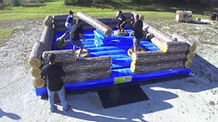 Carnival Corporate Event Blue Lagoon Log Jump Rental