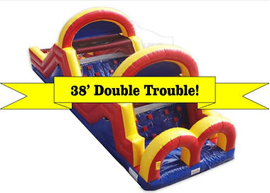 38' Double Trouble Corporate Carnival Event Obstacle Course