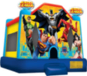 Justice League Inflatable with Batman, Superman, Wonder Woman, Flash, and Green Lantern