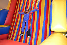 Sticky Wall or Velcro Wall Inflatable Corporate Carnival Event Game Rental