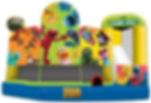 Corporate Event Sesame Street Inflatable Slide Rental
