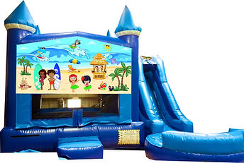 Luau Beach Party Combo Bouncer Water Slide