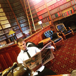 I was in the grandest of all libraries i