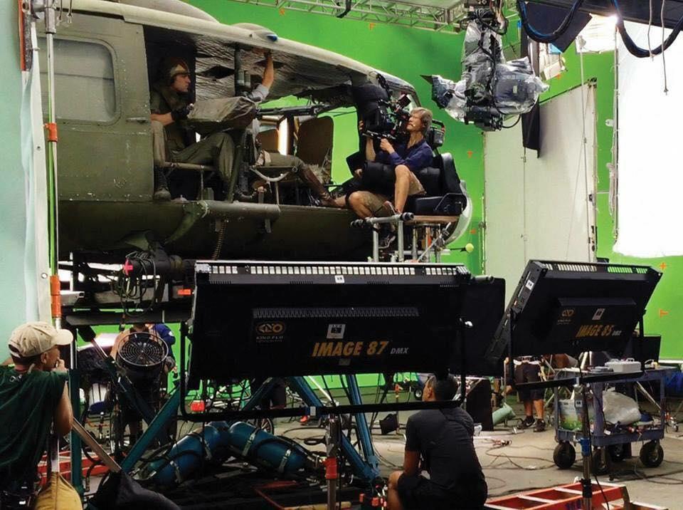 On the set of Kong Skull Island