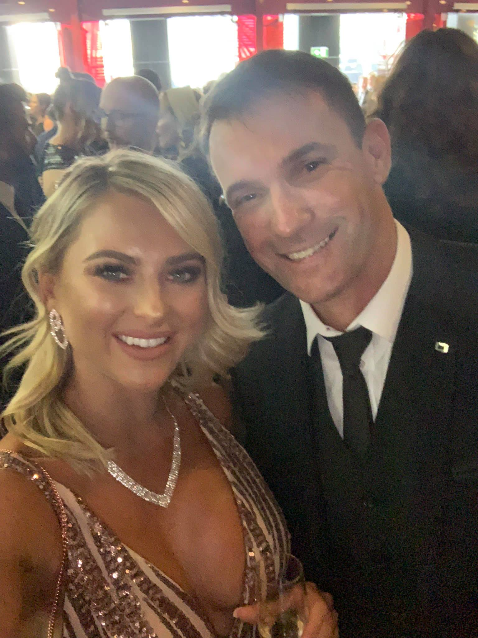 At the 2018 AACTA with ilana Collins