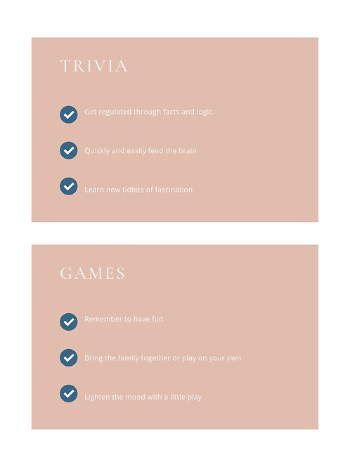 5: Small Steps, Big Impact: Trivia (11 pages) & Games (8 pages)