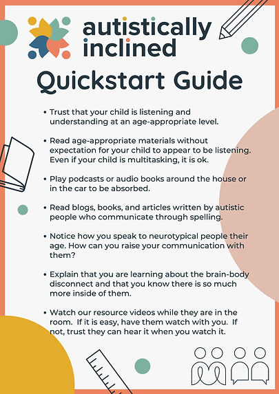 Autistically Inclined Quick Start Guide-