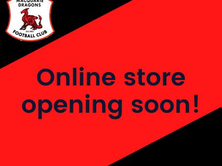 Online store opening soon!