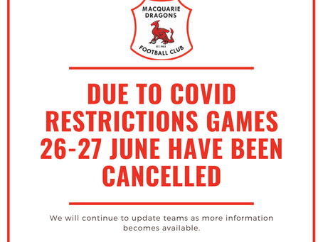 Update for games 25-27 June