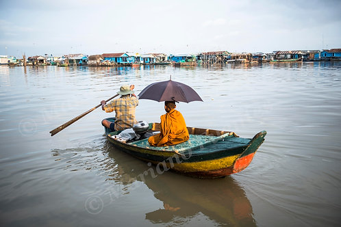 The Monk from floating Village