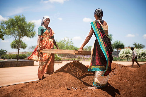 Indian women working