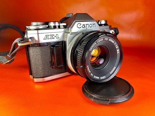 Camara Analógica | Canon AE-1 | 50 mm f 1.8 | Impecable