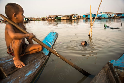 The children of the floating village
