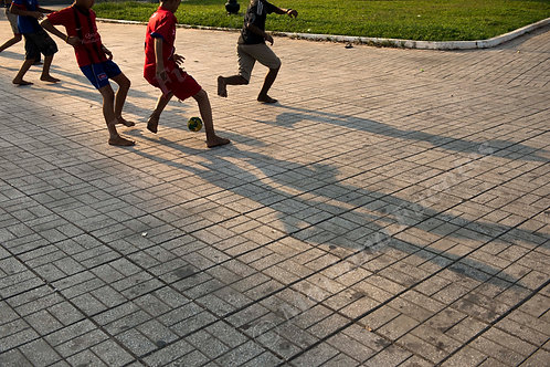 Playing in the evening