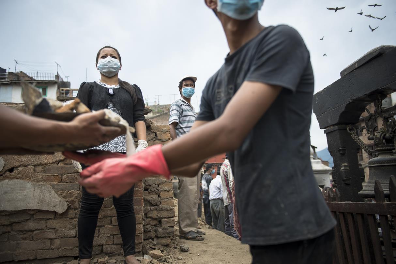 Voluntarios Nepaleses.