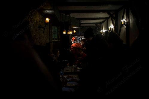 Santa at the bar