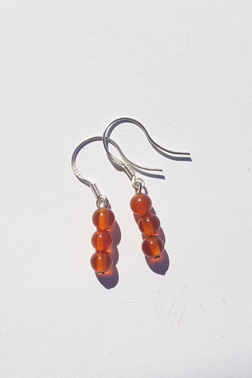 Small Drop Carnelian Earrings