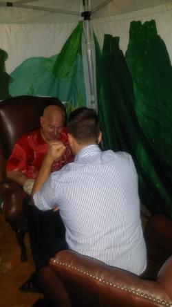 Alan doing a Tarot Reading
