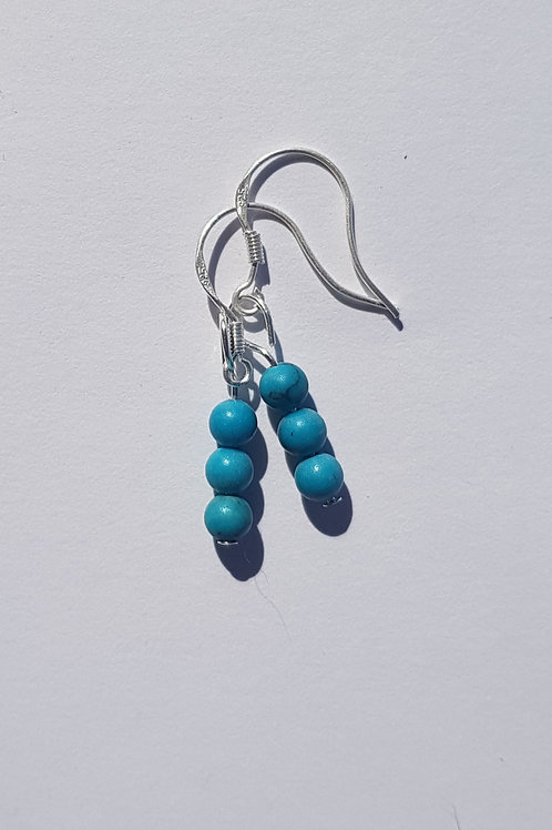 Small Drop Turquoise Earrings