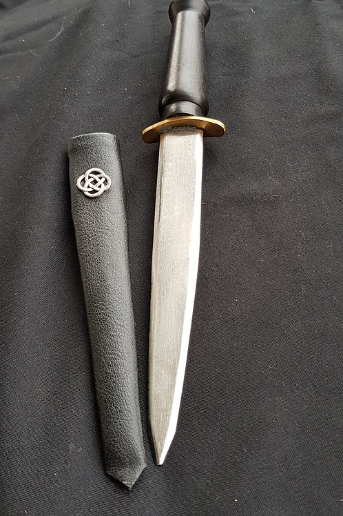 Ebony Athame with Celtic Knot & Sheath