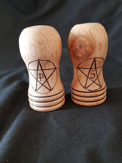 Pentagram Salt & Pepper Pots