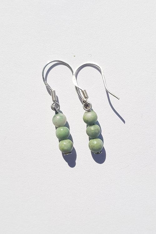 Small Drop Jade Earrings