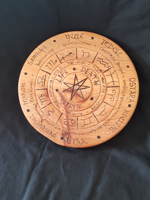 Pagan Calendar Plaque