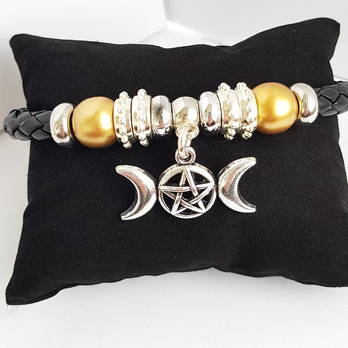 Handcrafted Pagan Leather Bracelet