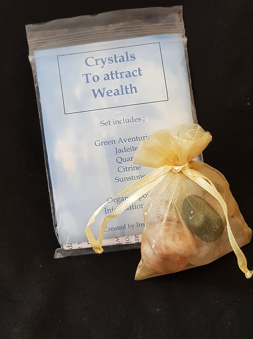 Crystals to Attract Wealth Set