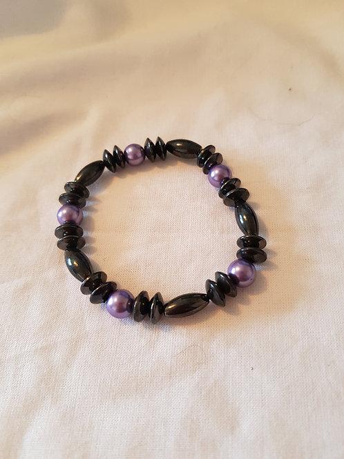 Magnetic Hematite Pearlised Bracelet