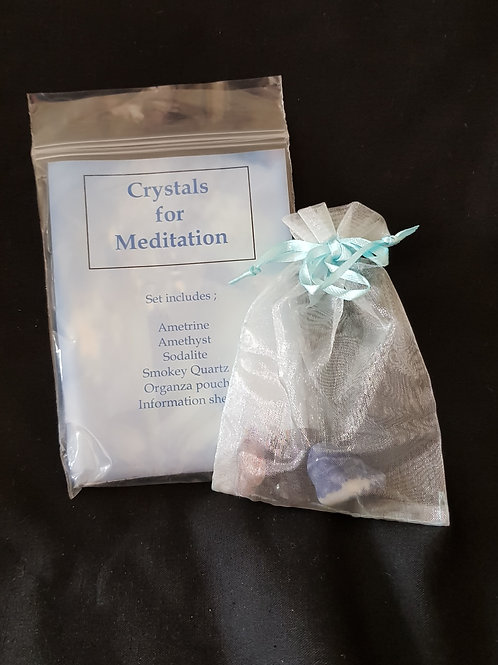 Crystals For Meditation Set