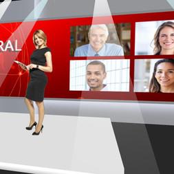 Plató virtual evento online