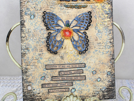 """New"" Art Journal Page with Flower Video Tutorial"
