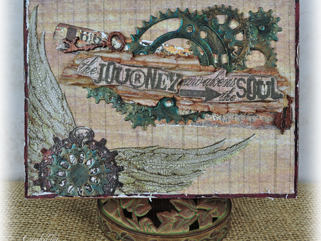 """""""The Journey"""" Masculine Mixed Media Card"""